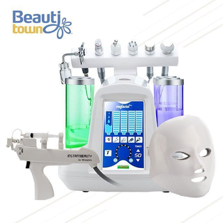 8 in 1 Hydro Oxygen Jet Peel Spa Skin Care Machine with LED Light Mask SPA17