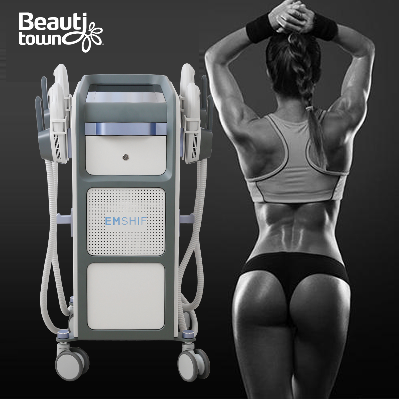 All body area use 4 handle vertical body shaping machine emsculpt pelvic