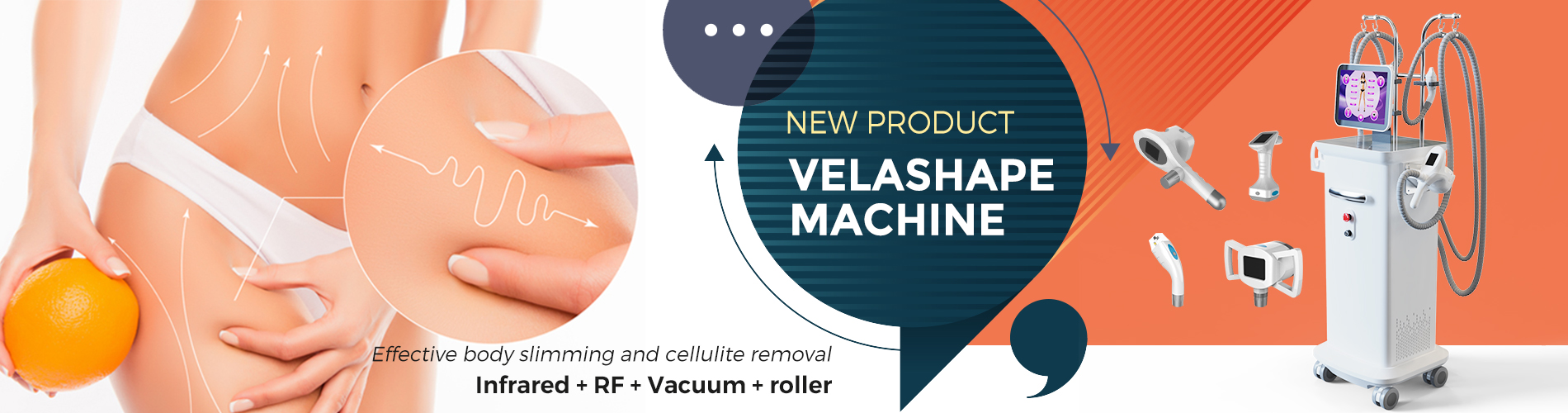 M9 infrared RF vacuum roller body shapimg machine