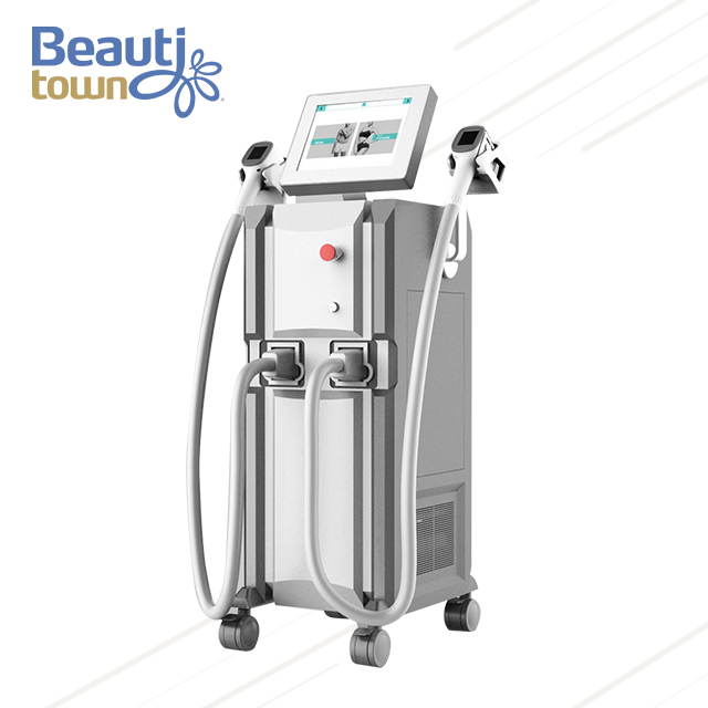 Facial Hair Laser Removal Machine with Double handle