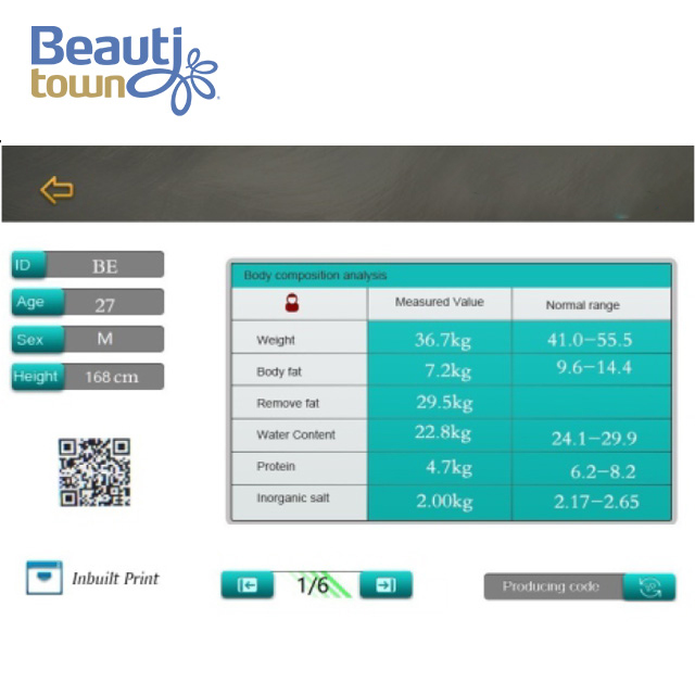 Body Fat Analysis Scale Equioment with WIFI Connection